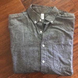 Men's Grey Button Down Shirt American Apparel (M)